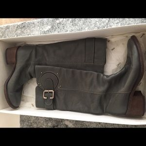 Authentic Chloe grey leather boots